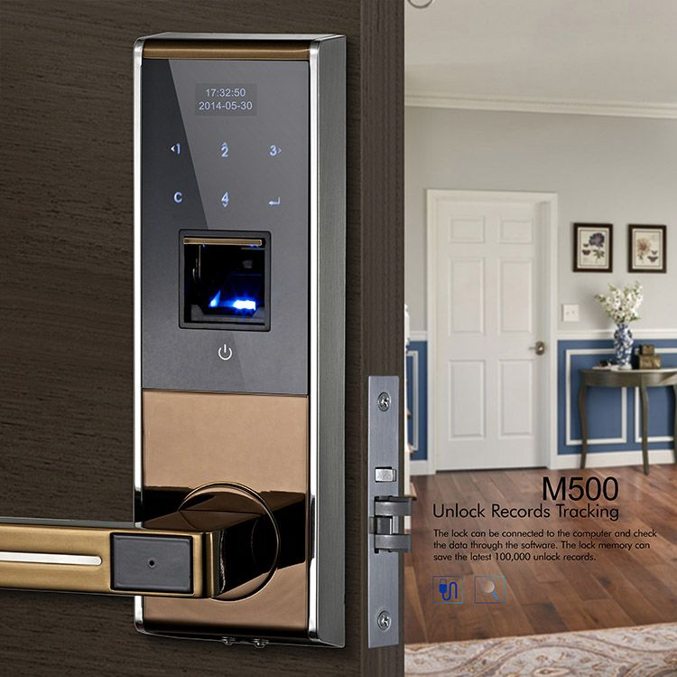 Avent Security M500 Electronic Security Door Lock With Touch Screen Keypad Smart Door Locks Home Security Companies Door Lock Security