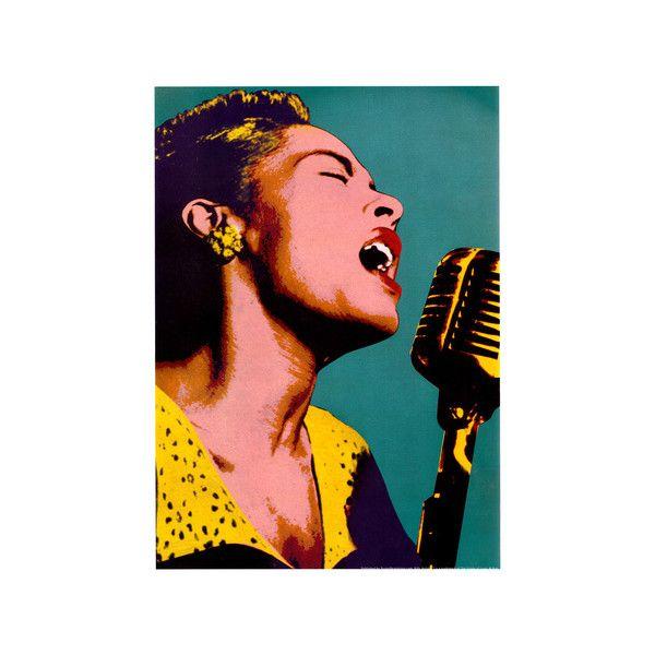 Billie Holiday Blue Pop Art Music Poster Poster Jazz Poster Blues Music Poster Jazz Art