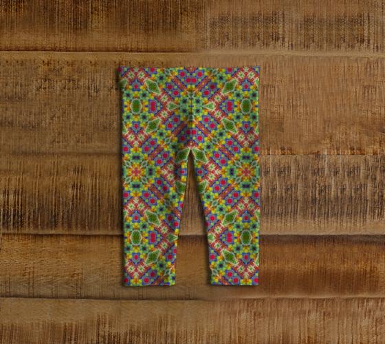 "Baby leggings ""Multicolor Geometric Ethnic Baby Leggings"" by DFLC Prints"