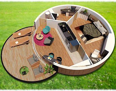 modern round house design