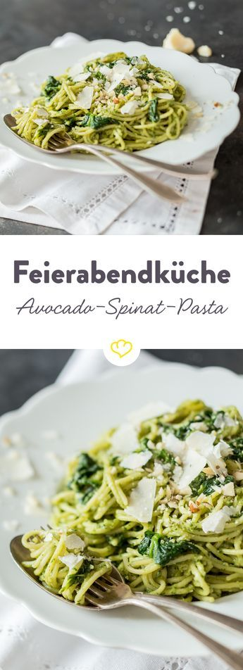 Avocado-Spinat-Pasta: dein ectra cremig-grüner-schneller Feierabend
