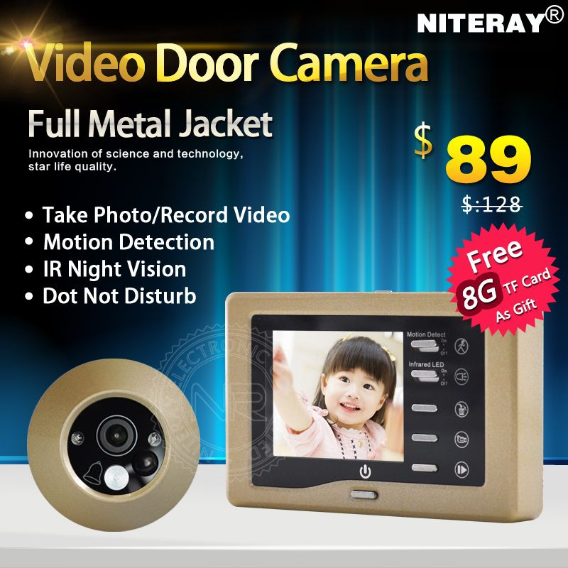 Sensitive Motion Detect Digital Peephole Door Viewer Camera ...