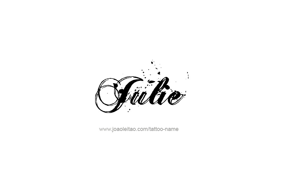 49b7d6fb1 Page with 31 different design / font styles for the name Julie. Make Julie name  tattoo