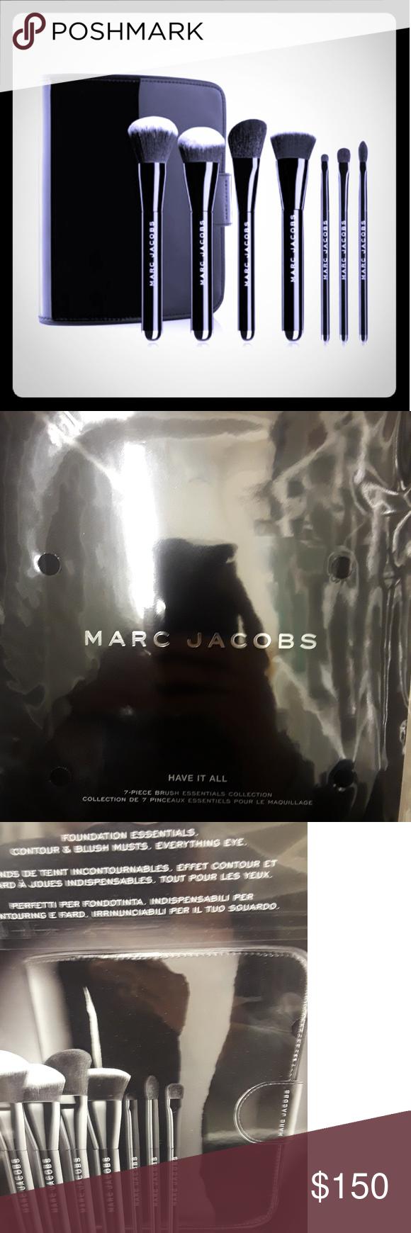 "Marc Jacobs ""have it all"" 7 piece brush set Marc jacobs"