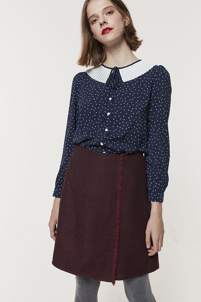 c400c2553508 Bush Tweed Skirt (Wine) | Faldas/skirt | Tweed skirt, Skirts y Kilt ...