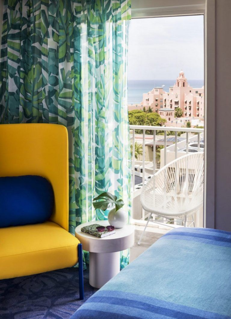 a tropical explosion of color in this hawaiian inspired modern hotel rh pinterest com