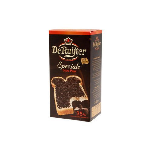 De Ruijter Extra Dark Chocolate Hail 8.5 Oz.