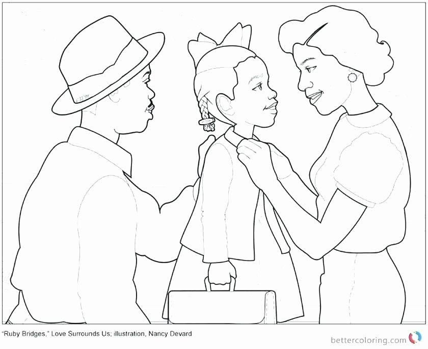 32 Ruby Bridges Coloring Page In 2020 Coloring Pages Ruby