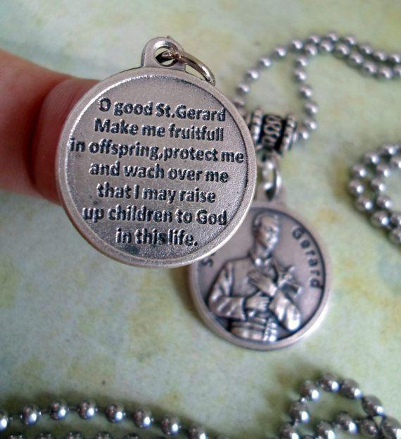 St gerard necklace patron saint of fertility by lovethosependants st gerard necklace patron saint of fertility by lovethosependants aloadofball Image collections