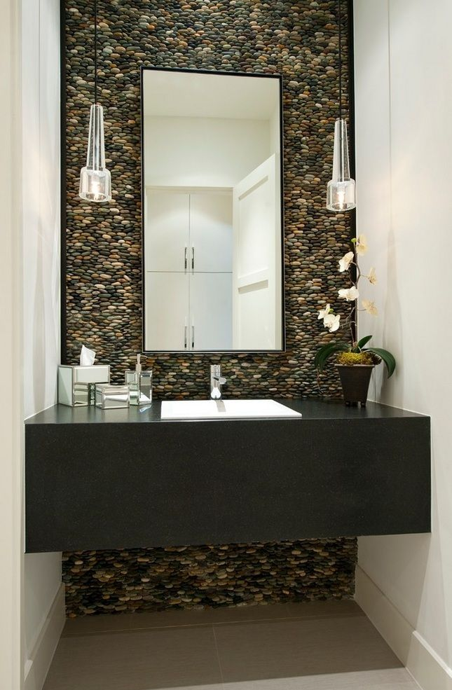 Pebbles Bathroom Accent Wall Design 1