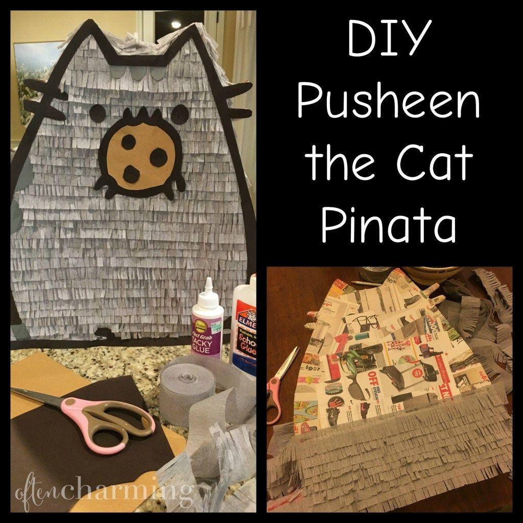 DIY Pusheen the Cat Pinata Pusheen birthday, Pusheen