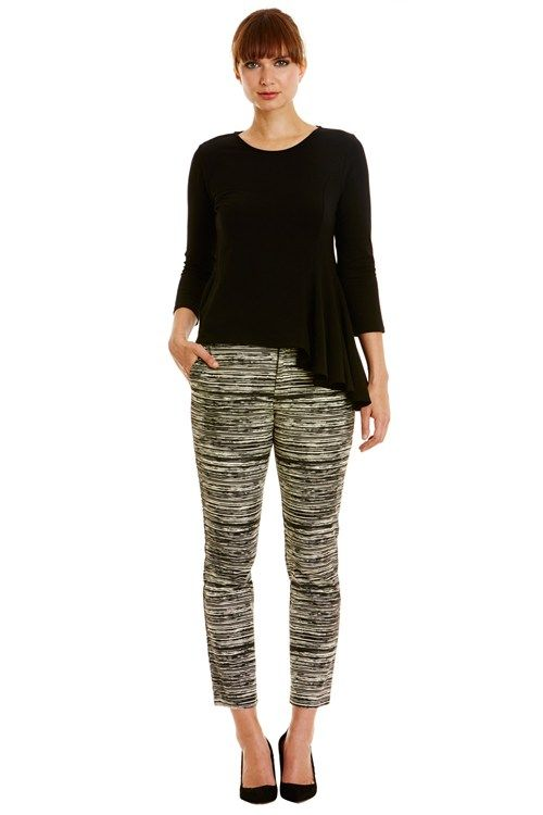16b352a8f2d0 People Tree - Alba Trousers - Black Print