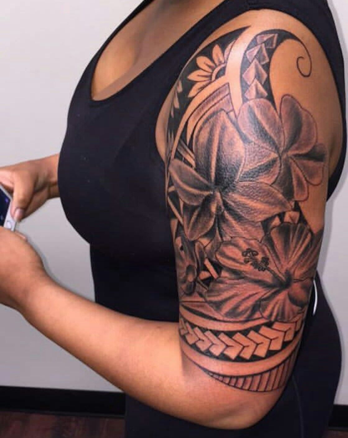 add the word beautiful or strength Polynesian tattoos