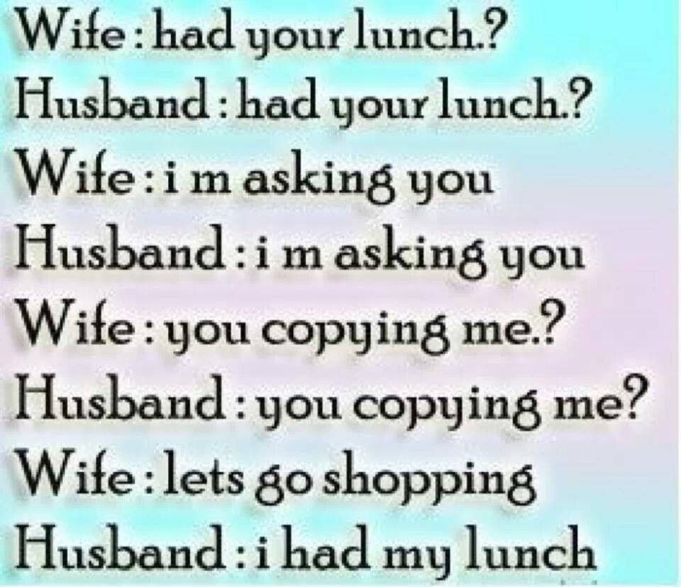 Husbands Wives In Laws Jokes Experiences which made you
