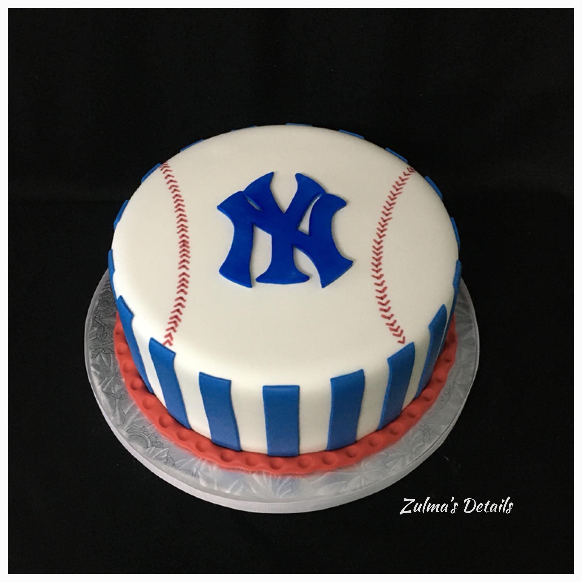 Yankee Baseball Birthday Cake Yankees Birthday Baseball Birthday Cakes Yankee Baseball Cake
