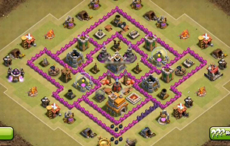 Best War Base Coc Th 7 Anti Dragon 2