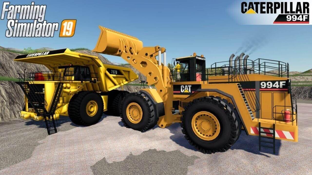 CAT 994F Giant Wheel Loader Farming Simulator 19 in 2020