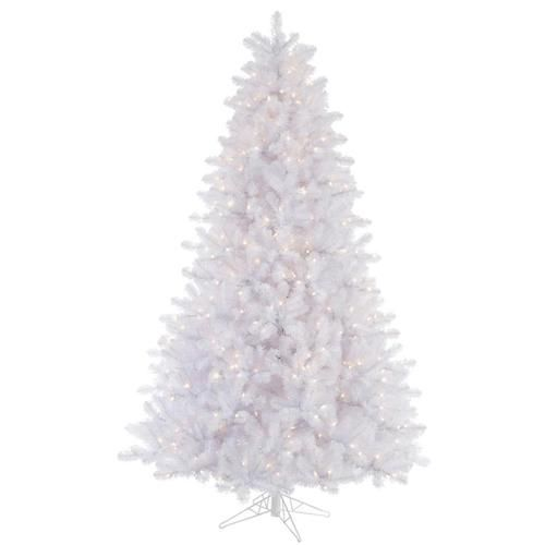 6 5 Pre Lit Crystal White Artificial Christmas Tree Multi Color