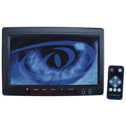 "7"" Wide Screen TFT LCD Monitor w/Front Panel A/V Inputs"