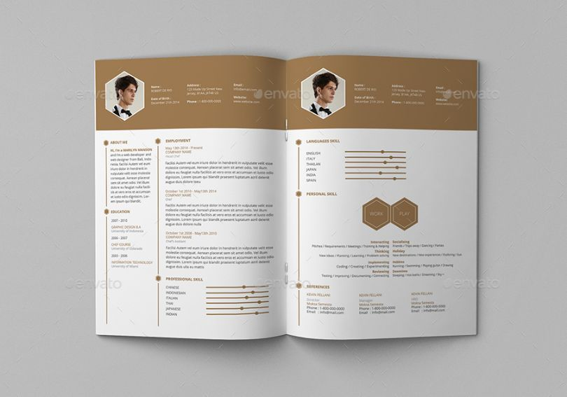 Chef resume template word indesign and psd format chef