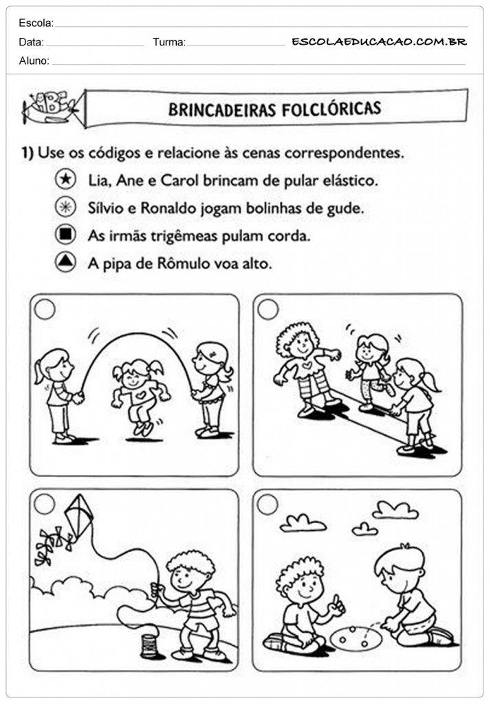 Conhecido Atividades de Português 2º ano - Brincadeiras Folclóricas | BANCO  UC94