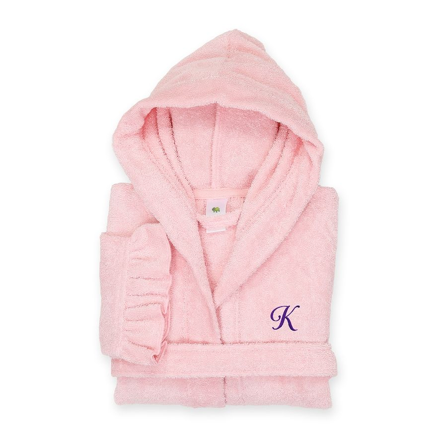 Linum Home Textiles Turkish Cotton Kids Personalized Hooded Bathrobe