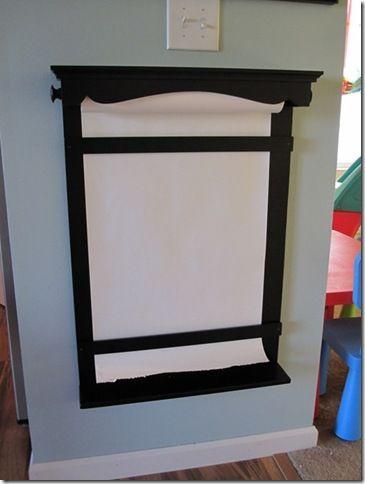 Project Idea Diy Paper Roll Wall Easel Basement Ideas Diy Paper