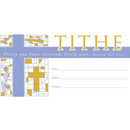 Tithe Envelope - Bill Size | Offering Envelopes | Pinterest ...