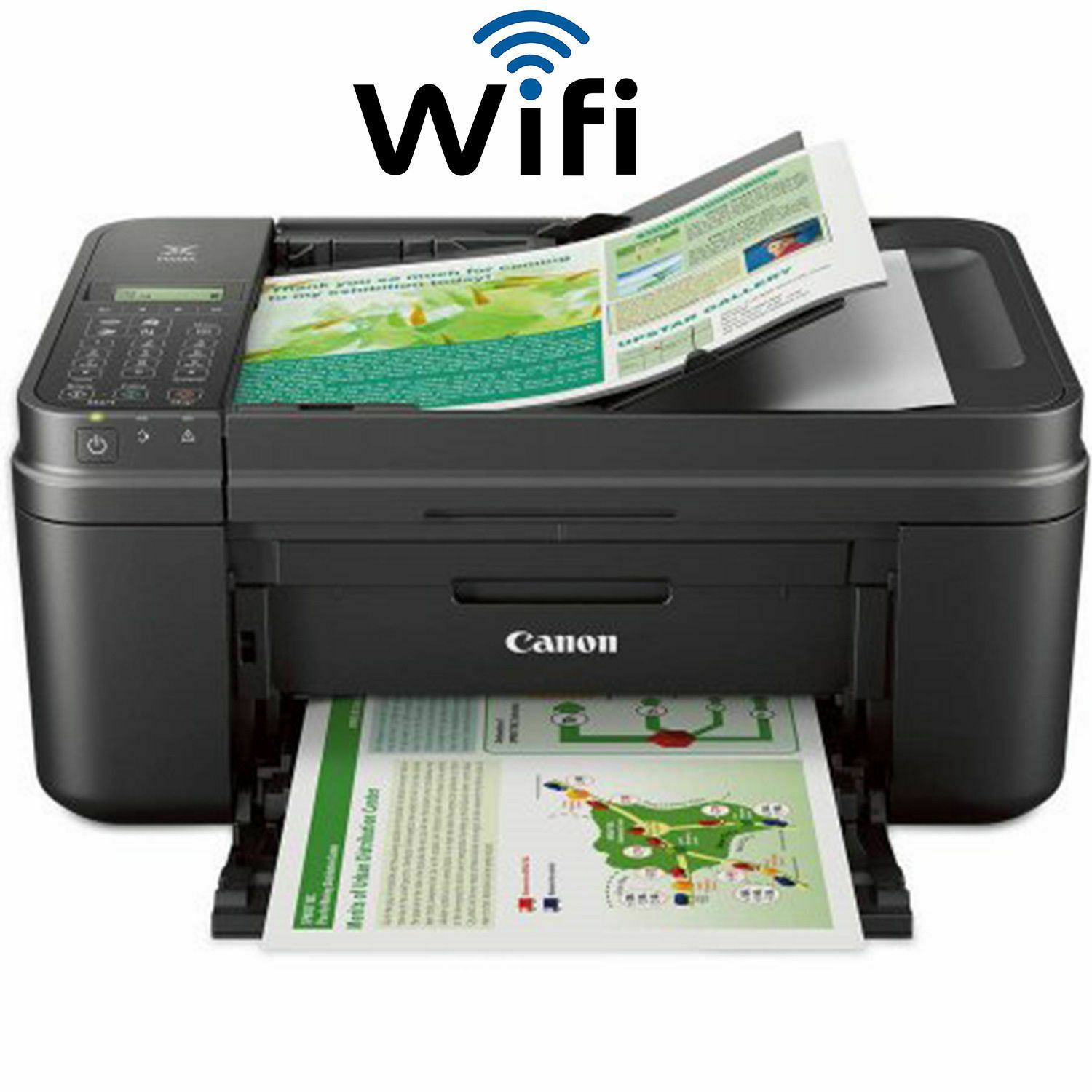 Wireless Printer Scanner Copier Fax All In One Canon Pixma