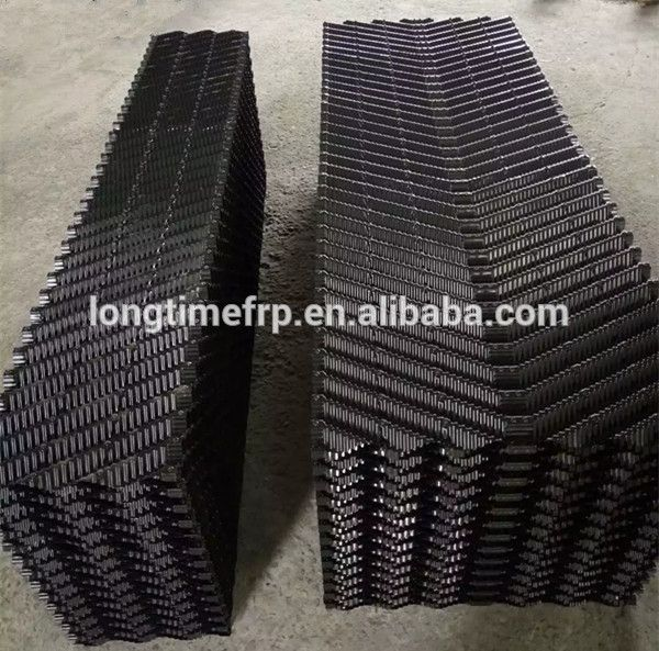 0 25mm Thickness Oblique Wave Cooling Tower Fill 12mm Pitch Pvc