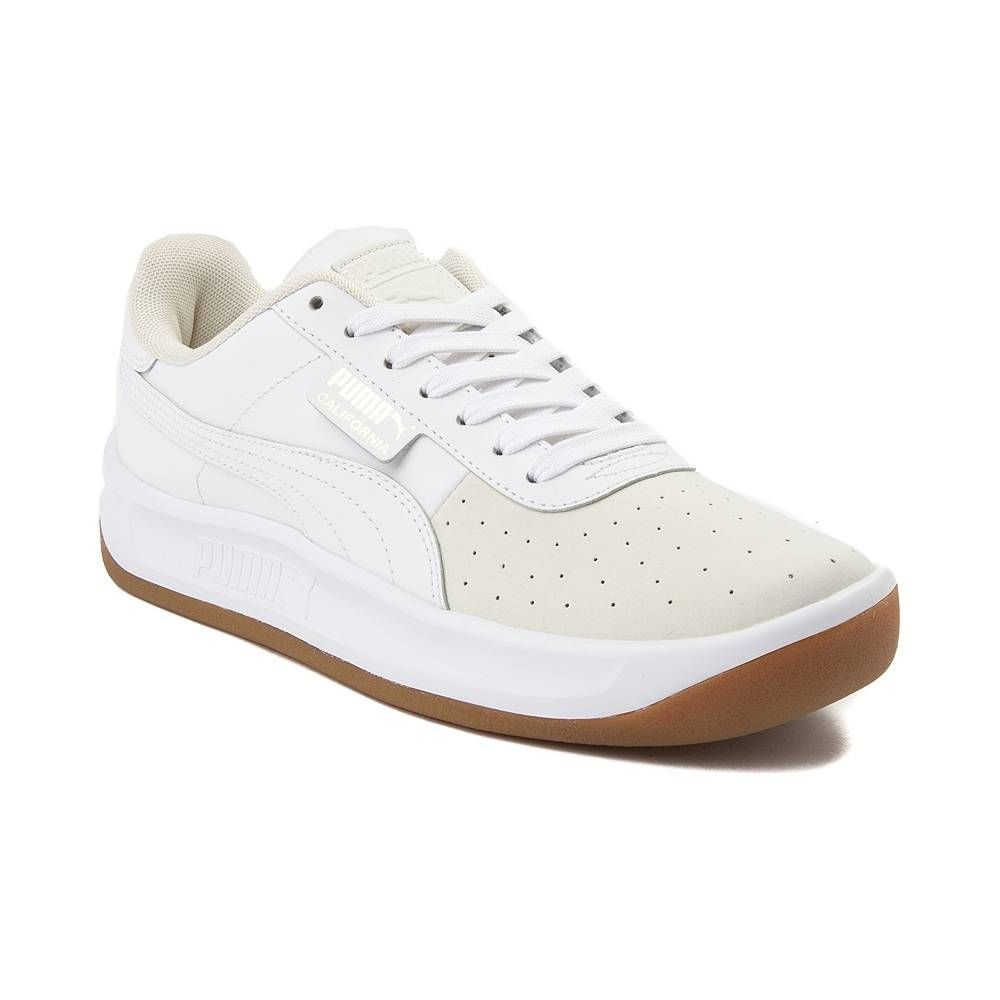 60a2a677c4d04c Womens Puma California Exotic Athletic Shoe - White Gum - 361838 ...