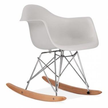 Rocking Chair Pour Enfant De Style Rar Gris Clair Chaise A Bascule Eames Rocking Chair Chaise A Bascule