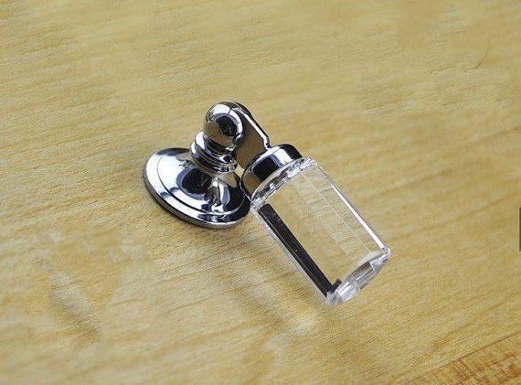 7 Dresser Drop Knobs Pulls New Shabby Glass Drawer Knobs Pulls