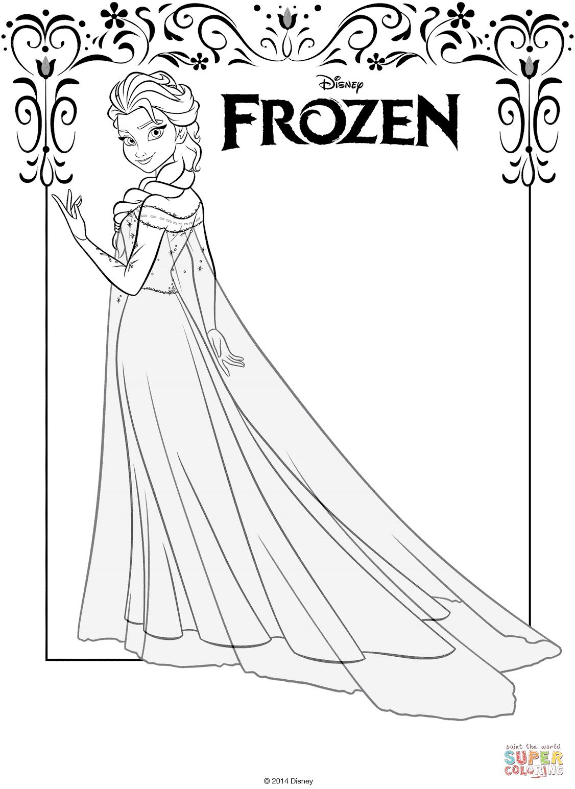 Elsa Malvorlage Kostenlos