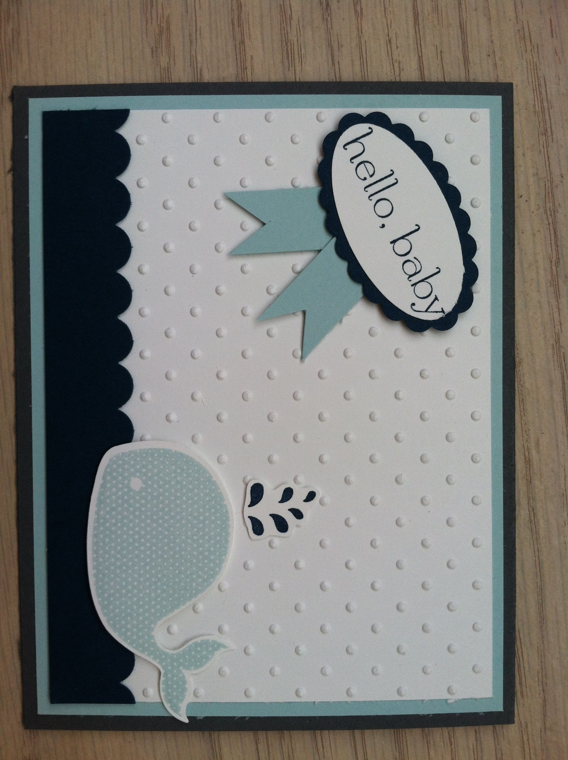 Baby Shower Card For Boy Using Stampin Up Crafty Baby