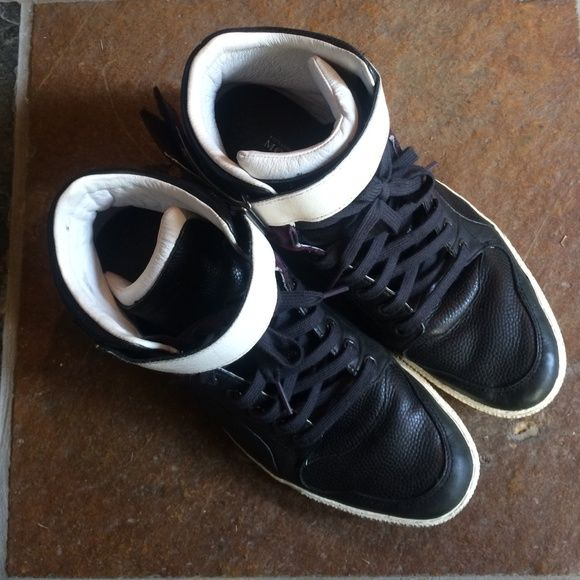 Alexander mqueen + puma colaboration high top. Worned for around 15 times. Man size 10. Very unique, no box. Will clean before ship. Alexander McQueen Shoes Sneakers