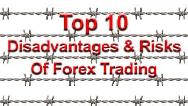 Disadvantages of trading forex