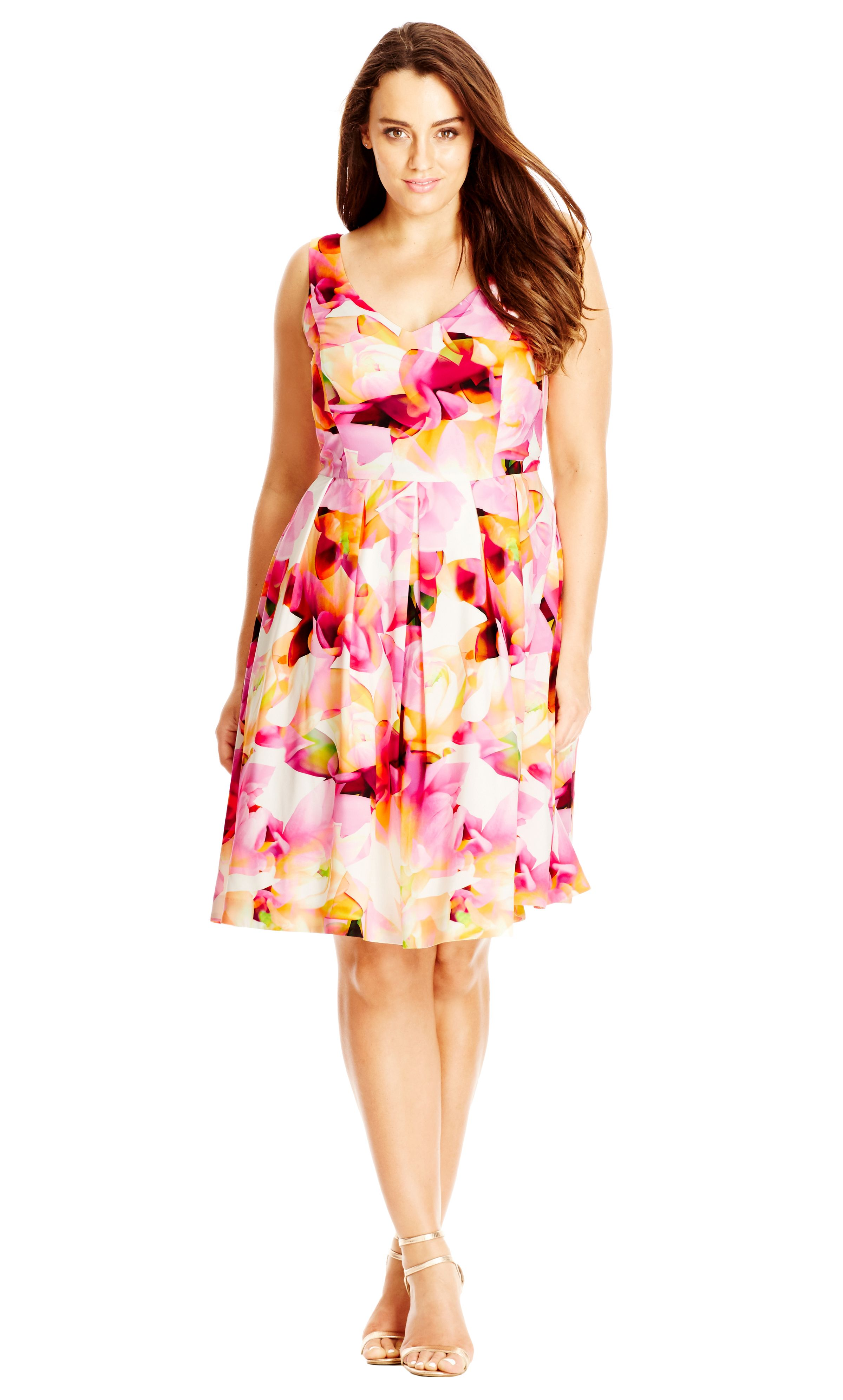 City Chic Floral Phoebe Dress Women S Plus Size Fashion