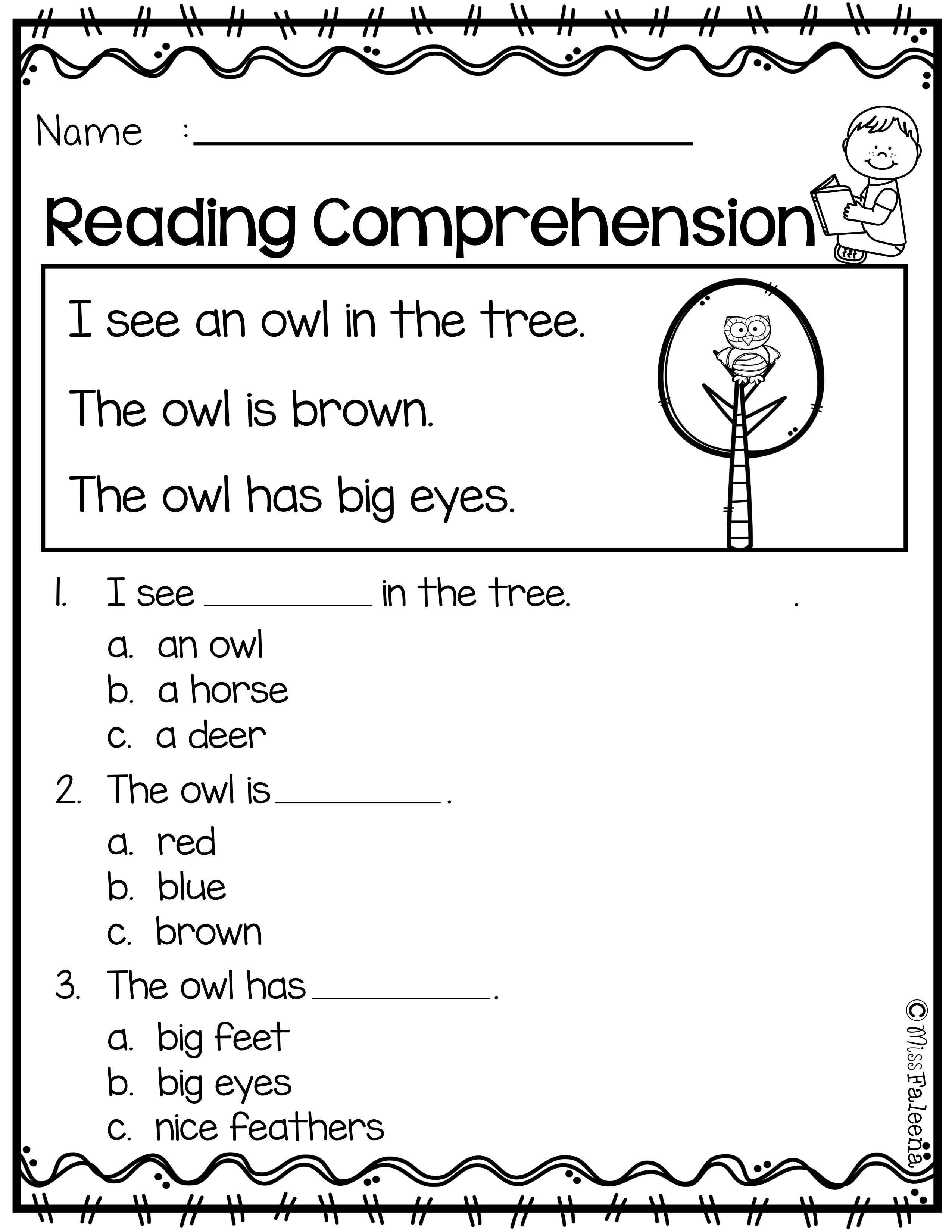 - September Reading Comprehension Reading Comprehension