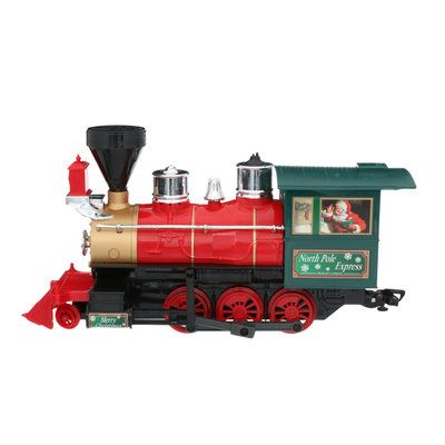Eztec Battery Operated Wireless Remote Control North Pole Express Christmas Train Set 37297 The Home D Christmas Train Set Christmas Train North Pole Express
