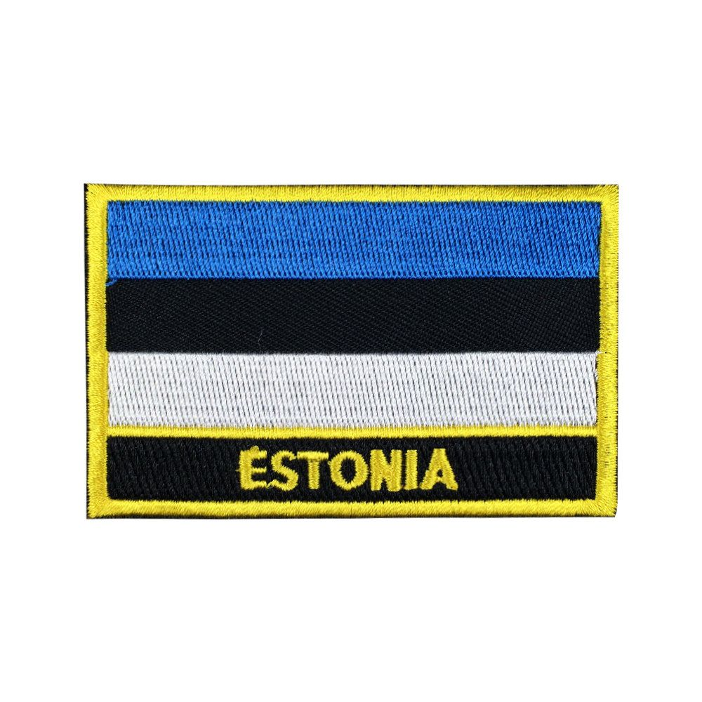 Estonia Embroidered Sew or Iron on Patch Badge