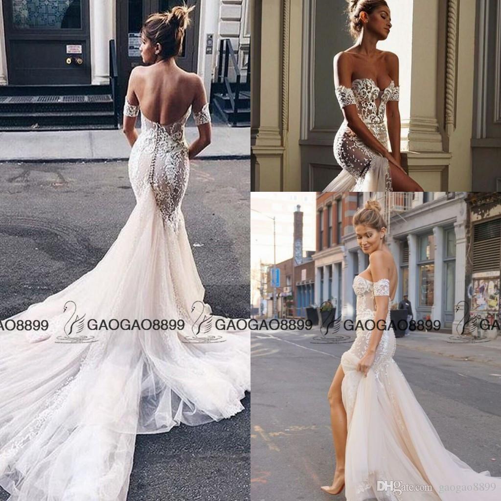 2017 Pallas Couture Amazing Detail Off Shoulder Mermaid Wedding Dresses Elegant Split Lace Flo Wedding Dresses Backless Wedding Dress Wedding Dresses Strapless [ 1024 x 1024 Pixel ]