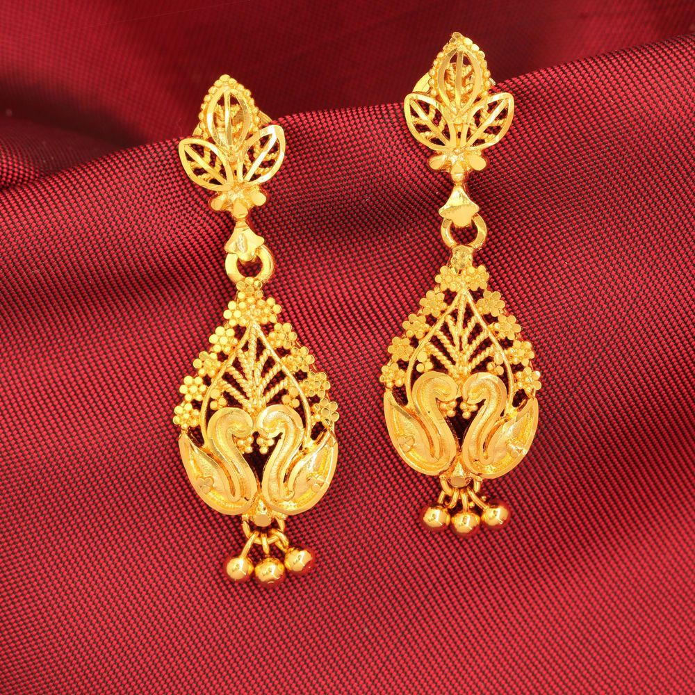 Traditional Bollywood Antique Earrings Goldplated Drop Dangle Jhumki Jewlery