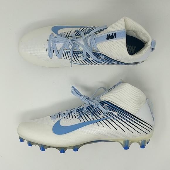 san francisco a2f4a 8cef7 Nike Vapor Untouchable 2 Football Cleats White Carolina Blue 835646-131 Sz  15