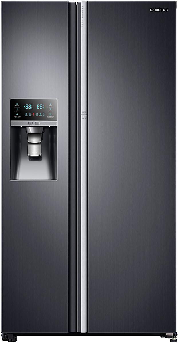 Samsung 36 Inch 21 5 Cu Ft Side By Side Refrigerator Black Stainless Steel Rh2 Energy Star Refrigerator Samsung Refrigerator Repair Side By Side Refrigerator