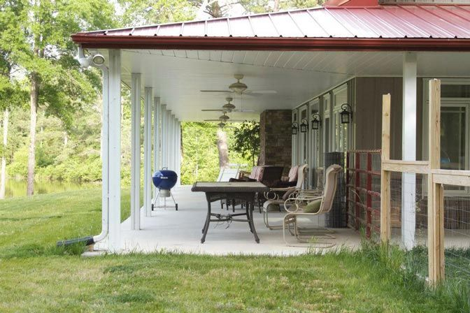 Metal Building Home w  Awesome Wrap-around Porch (HQ Plans \ 8