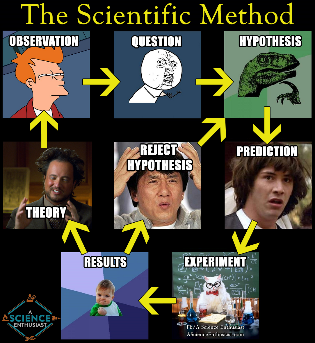 Steps Of The Scientific Method In Interwebs Terms