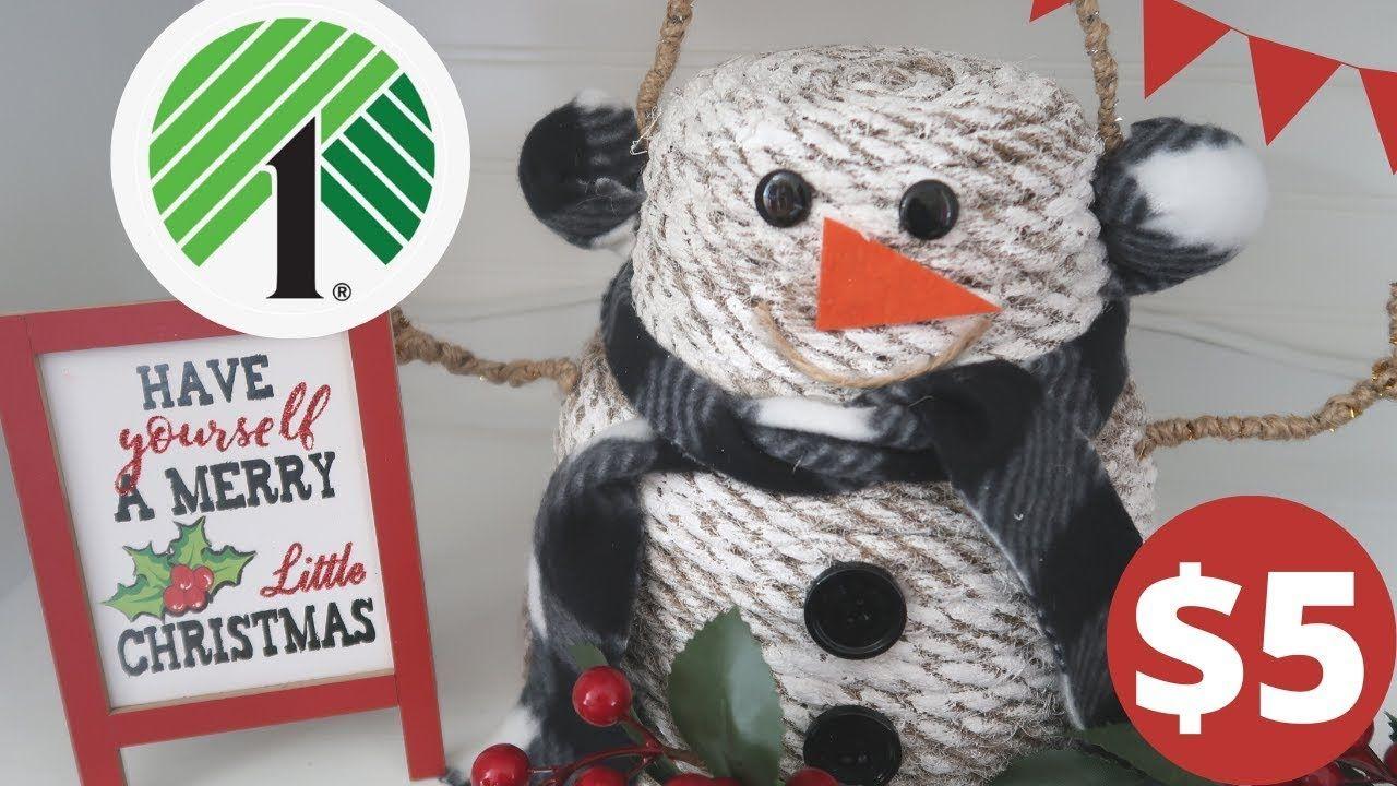 DOLLAR TREE CHRISTMAS DIY   SNOWMAN DOLLAR TREE CHRISTMAS DECOR - YouTube #dollartreecrafts
