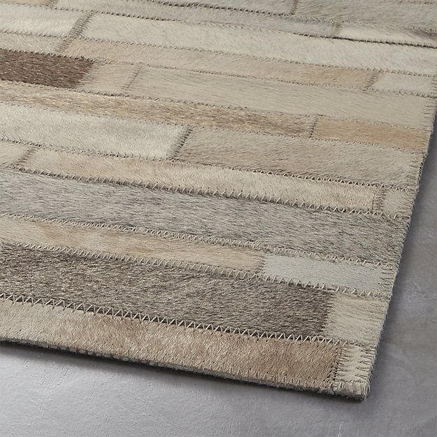 Ewing Striped Cowhide Rug Crate And Barrel Dream Land In