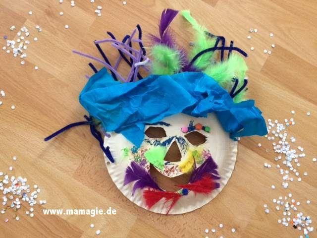 maske aus pappteller paper plate mask diy for kids pinterest pappteller masken masken. Black Bedroom Furniture Sets. Home Design Ideas